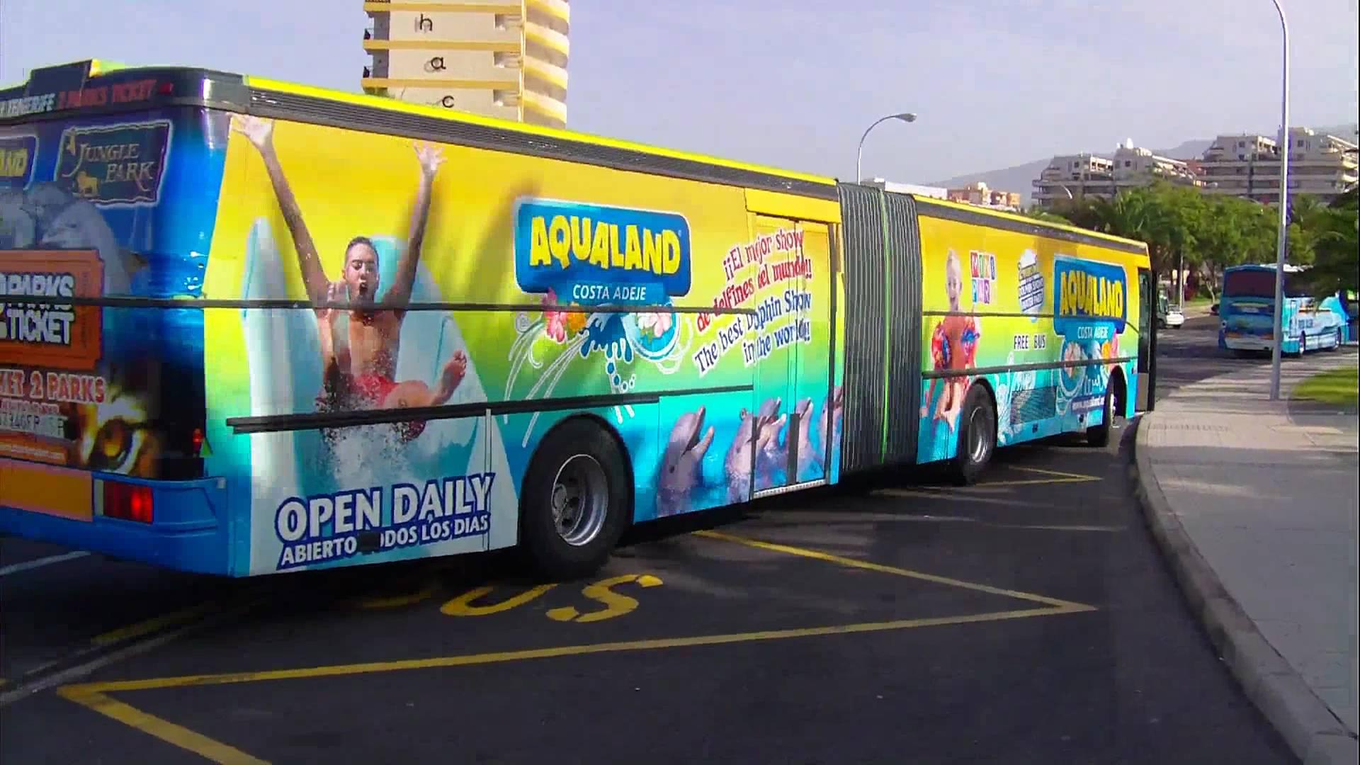 Фото бесплатного автобуса Аквапарка Акваленд на Тенерифе