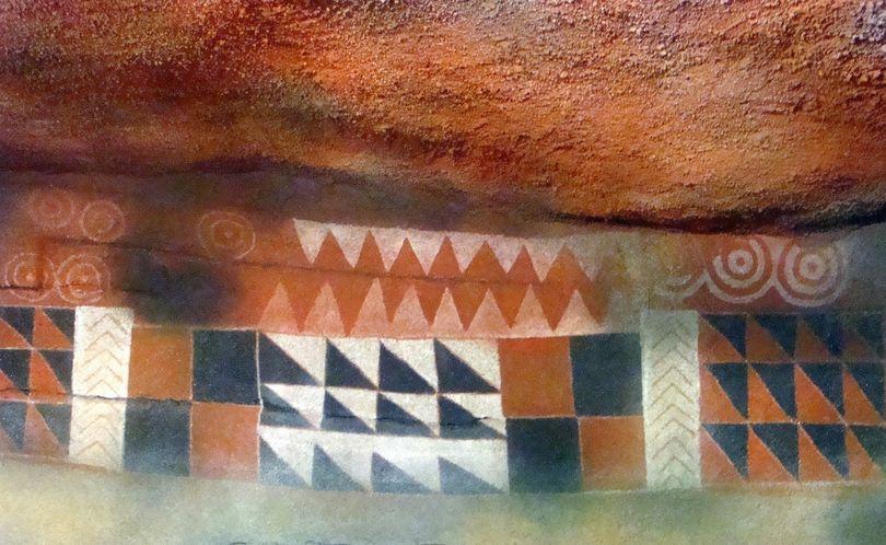 Рисунки на стенах в пещере Пинтада